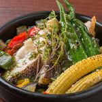 メバルと夏野菜のグラモラータソース
