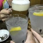 たつ屋 - 3人で乾杯\(^o^)/