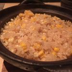 kiwa - 玉蜀黍の土鍋炊き込みバターご飯