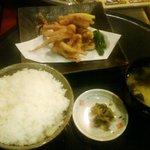 花々亭 - 料理写真:イカげそ揚げ ご飯セットライス大盛り