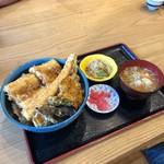 女川海の膳ニューこのり - 活アナゴ天丼