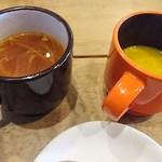 90680592 - スープは二種ともしっかり頂きます(笑)