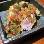 こな吉 - かつおフライ特製野菜ソース¥540