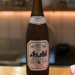日本橋 天丼 金子半之助 - 2018.8 瓶ビール(600円)アサヒスーパードライ
