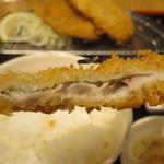 鳥取県・島根県 郷土料理かば - 境港産 鰺フライ定食 3枚