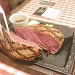 カタマリ肉ステーキ&サラダバー にくスタ - ランプステーキ 600g