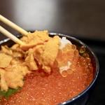 大磯 - 2色丼ウニ、イクラ