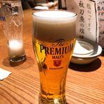秋葉原魚金 - ザ・プレミアム・モルツ 580円