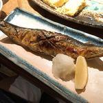 秋葉原魚金 - サンマの塩焼き 480円