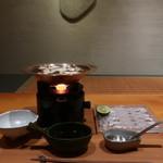 日本料理 幸庵 -   松茸と鱧のしゃぶしゃぶ