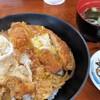 かねいしうどん - 料理写真:かつ丼。かつは揚げたてです。