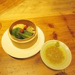 十番 無鴨黒 - 蒸し野菜