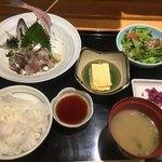 広瀬 - 鯵のタタキ定食1000円