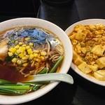 G麺 - 料理写真:G麺+麻婆丼 ¥800