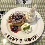ケニーズハウスカフェ - パンケーキトリプルベリー 950円