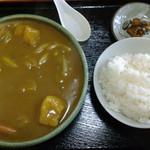 907471 - カレーうどん+ライス