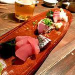 海山味 - *おまかせ刺身盛り合せ(¥1,800)