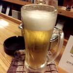 立呑み 龍馬 - 生ビール¥410-