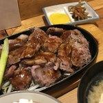 鶴が亭 - 生ラムステーキ定食200g