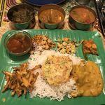 ゼロワンカレー - 南インド定食全景