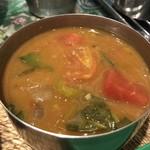 ゼロワンカレー - 日向南瓜と空芯菜のサンバル
