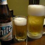 オジャンドン - 「hiteビール」と「ジョッキ生中ビール」