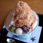 祇園 - 京五山(きなこミルク金時氷、きなこアイス入り)