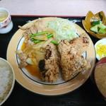 光玉母食堂 めし しんちゃん - 2018年8月 焼きから定食 1050円