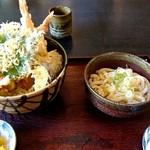手打道場 高砂 - 料理写真:天丼 うどん付き(1000円)