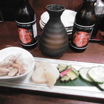 蔵内 馬ノ丈 - 付き出し2人分、日本酒