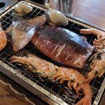 浜焼太郎 - イカ、エビ、はまぐり(浜焼きセット)