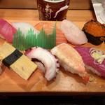 寿司とし - 料理写真:「寿司大盛り定食(9貫)」1080円