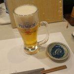 志むら寿司 - 生ビール