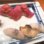 若鮨 - トロ、イカ、アイナメ、カイ
