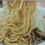 ラーメン ○菅 - 中太麺