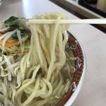 90723133 - 太麺のアップ