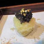 天ぷら酒房 西むら - とろろ芋のキャビア載せ