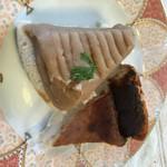 羽間農園 - 料理写真:・酒粕のチーズケーキ風+白小豆のモンブラン