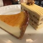90730724 - チーズケーキ&ナッツのケーキ    濃厚で美味しいです(^O^)