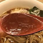 麺処 有彩 - 【2018.8.2】鶏ガラスープに円やかな醤油のカエシが冴える。