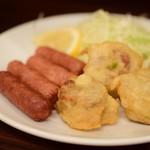 和食の店 魚滝 - しゅうまいウィンナー盛り合わせ@460円