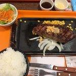 いきなり ! ステーキ - サーロイン210g、ライス大盛り&スモールレタスサラダセット(トータル2072円)