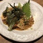 恵比寿さばと鶏白湯スープ炊き餃子 天神酒場ぬくぬく家 - 胡麻鯖2人前。厚切りを選びました。