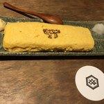 恵比寿さばと鶏白湯スープ炊き餃子 天神酒場ぬくぬく家 - あうんカード提示でメガに!  チーズ入り。淡黄色のナチュラルチーズでした。