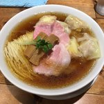 麺処清水 - 肉わんたん中華そば