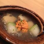 90732790 - 鮑の吉野煮 冬瓜 雲丹