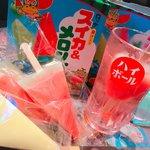 駄菓子食べ放題 放課後駄菓子バーA-55 - ドリンク写真:夏限定!スイカバー&メロンバーのお酒。インスタ映え抜群です♪