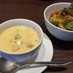 90734895 - スープ、サラダ