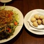 90737237 - 陳麻サラダとウズラ山椒醤油