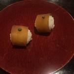 近為 - 料理写真:お通し:手毬寿司